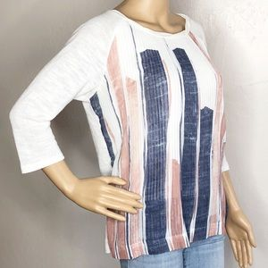 Anthropologie White Pleated Top G